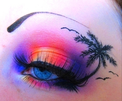 beautiful, blue eyes, colorful, eyebrowns, eyes, fashion, make up, turquise, wtf