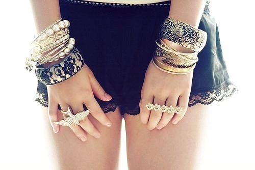 beautiful, braclets, fashion, pretty, rings