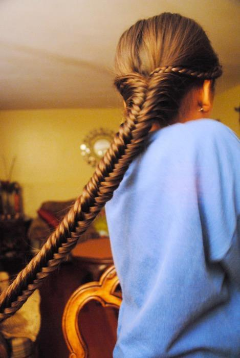 beautiful, braid, cute, fashion, fish braid, girl, hair, long hair, photo, pretty, style