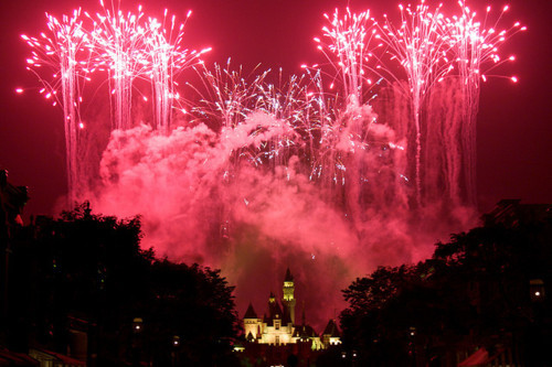 beautiful, castle, cute, disney, firework