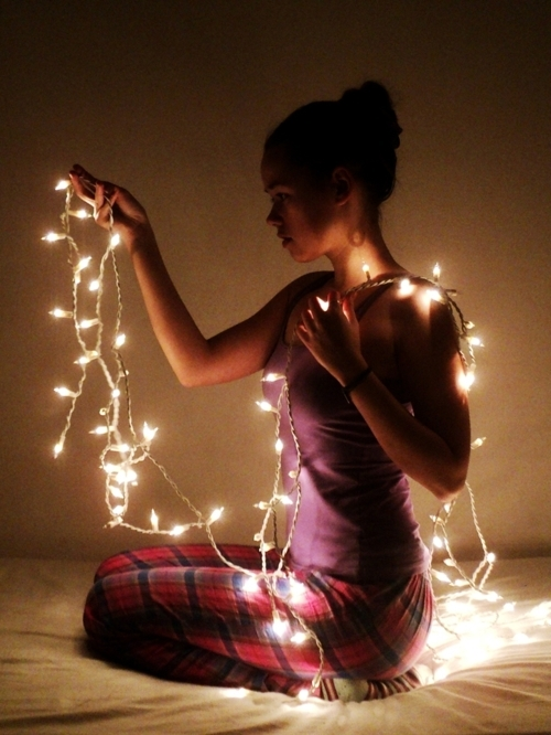 beautiful, christmas, girl, light, lights