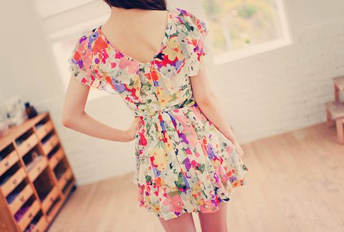 beautiful, clothes, dress, fashion, floral, pretty, style