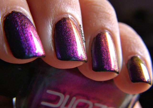 beautiful, cool, manicure, multichrome, nail polish