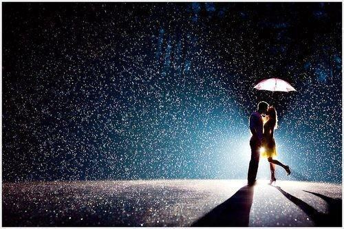 beautiful, couple, kissing, love, photography, rain, umbrella, water