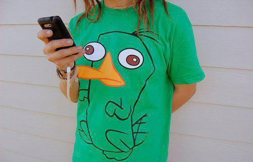 beautiful, crazy, girl and platypus perry