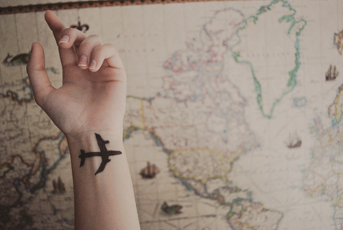 beautiful, cute, hand, map, pretty, tatoo