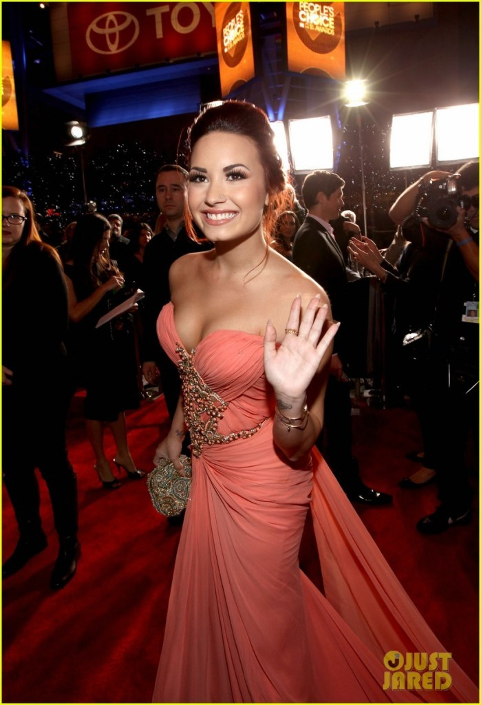 beautiful, demi lovato, dress, pink, smile