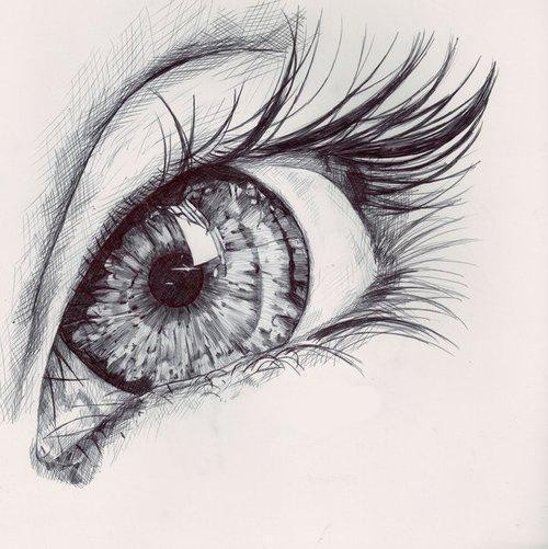 beautiful, drawing, eye