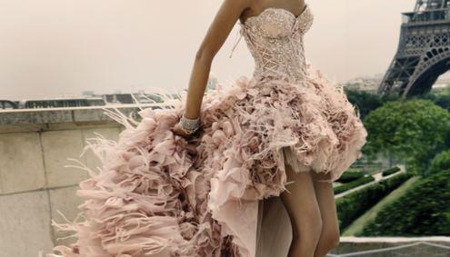 beautiful, dress, girl, jewlery, long, pink, poofy, pretty