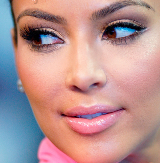 beautiful, eyes, face, girl, gorgeous, kim, kim k, kim kardashian, lips, make up, model, perfect, pretty