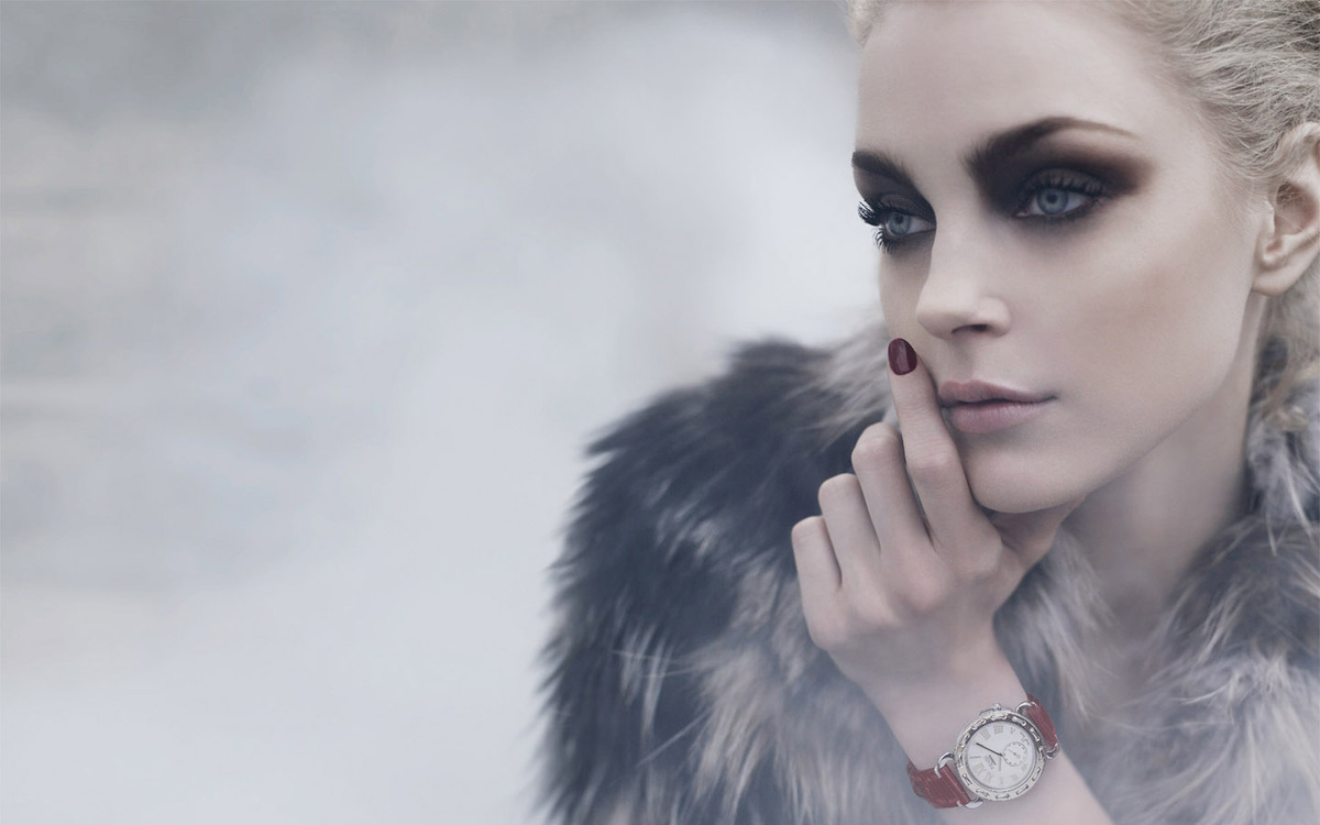 beautiful, fashion, fog, fur, girl