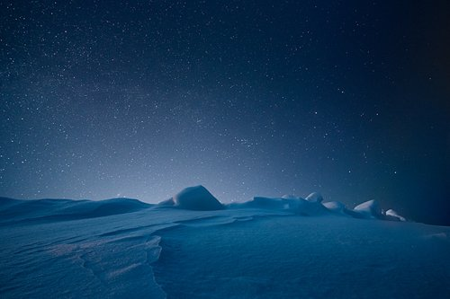 beautiful, ice, landscape, nature, night, photo, photography, sky, snow, stars, winter