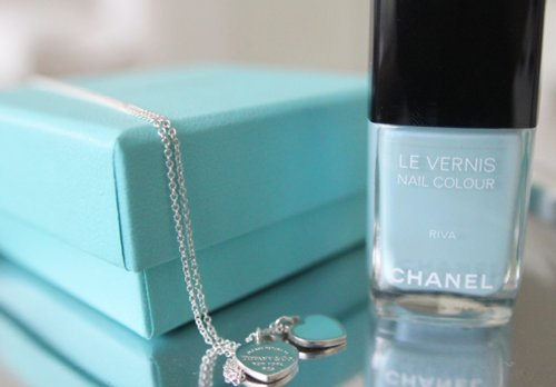 beauty, blue, chanel, cute, fashion, jewellery, love, nail polish, necklace, summer, tiffany