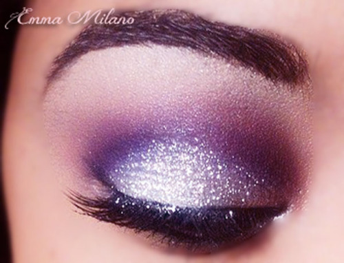 beauty, chanel, color, emma milano, eyes, glitter, love, make-up, make-up artist, pink, purple, smokey, tutorial, white, ysl