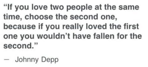beauty, first, johnny depp, love, people, qoute, second