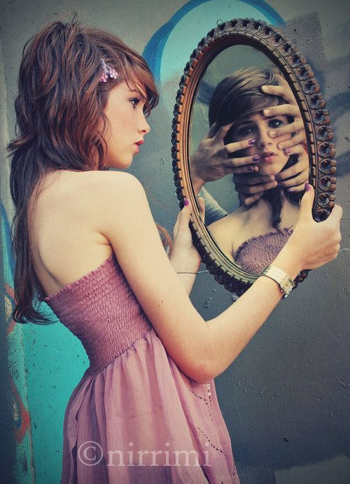 beauty, girl, hands, mirror, mirrors
