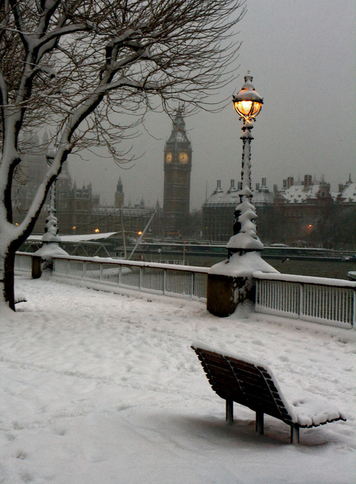 beauty, london, snow, winter