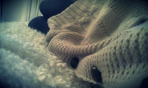 bed, fashion, girl, knitted sweater, relax