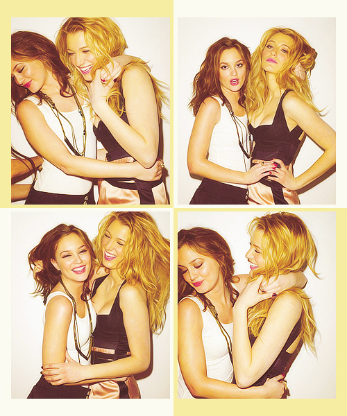 best friends, blair, blake lively, care, friends, gossip girl, guapo, leighton meester, love, serena
