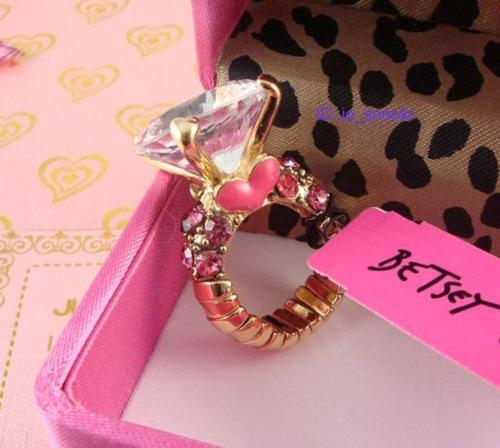 betsey johnson, diamond, girly, gorgeous, heart