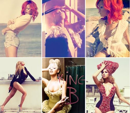 beyonce, beyonce is the best, beyoncelovers, king b, music, queen b, red hair, rihanna, riri