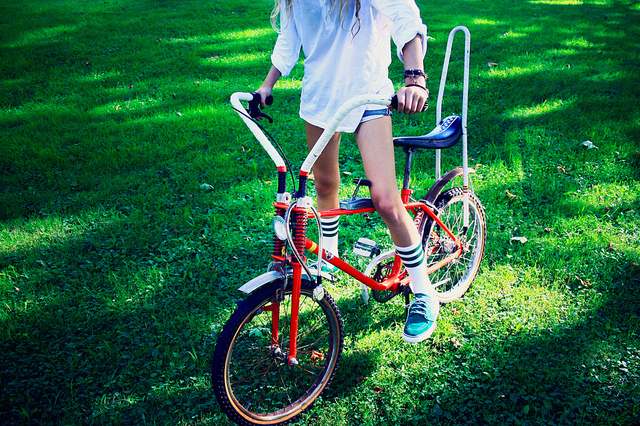 bike, city bike, cool, fun, grass