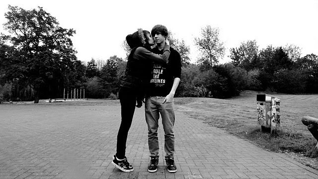 black and white, boyfriend, couple, cute, girlfriend