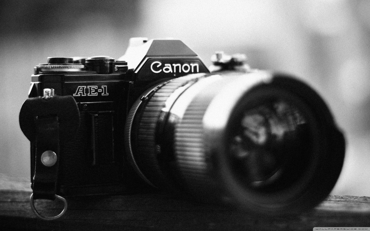 black and white, camera, canon, photo, photography