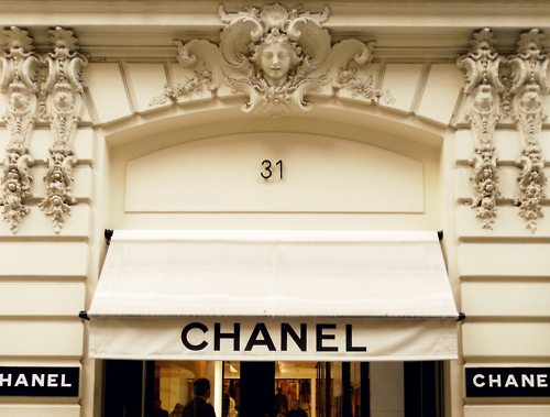 black and white, chanel, chanel store, coco chanel, couture