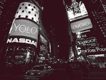 black and white, city, drake, lights, new york, ovoxo, yolo