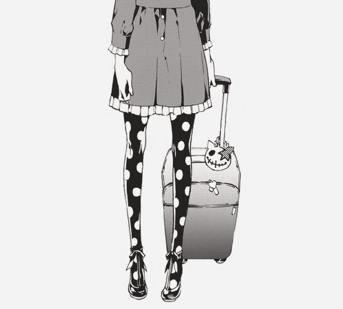 black and white, draw, girl, illustration, legs, manga