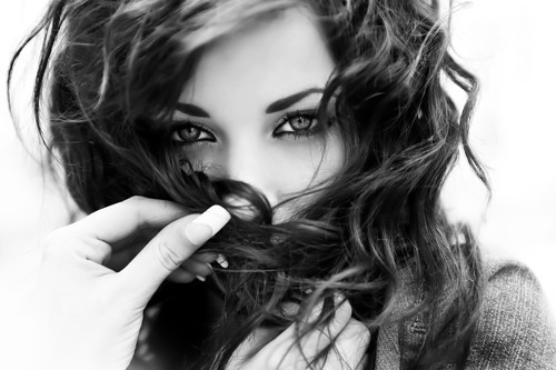 black and white, dream, face, fashion, girl