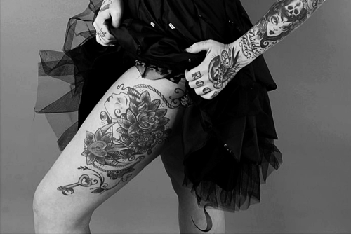 black and white, legs, tatto, tattoos