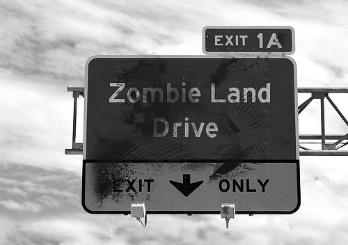 black, black and white, cool, fashion, girl, hwy, kiss, love, lovely, photo, photograph, pretty, sexy, white, zombie, zombie land, zombieland