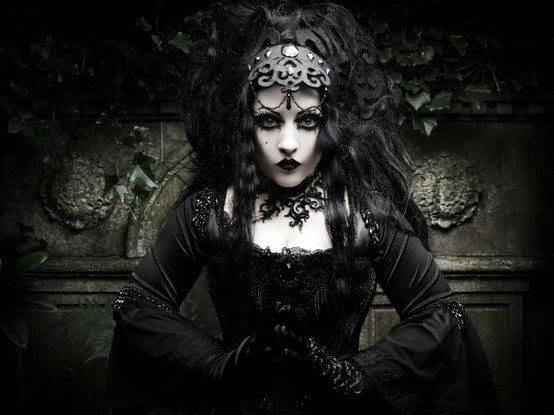 black, body paint, corset, crypt, crystals
