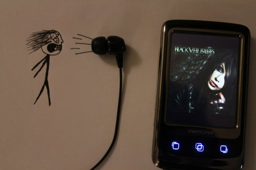 black veil brides, mp3 player, music