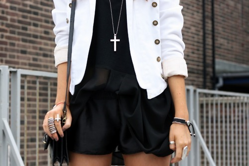 blazer, fashion, necklace, rings, style