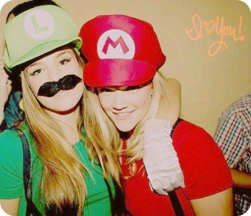 blond hair, cool, cutie, friendship, funny, girls, girly, mario bros, mustache