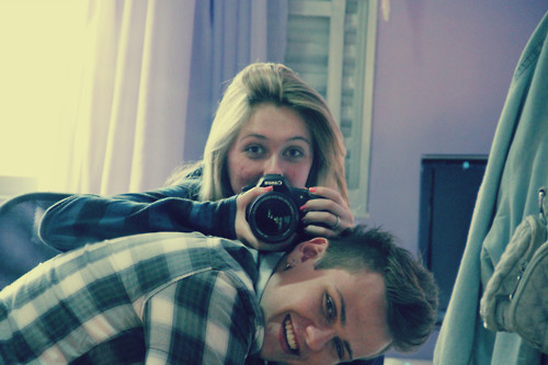 blonde, cannon, casal, couple, cute, happy, love, smile