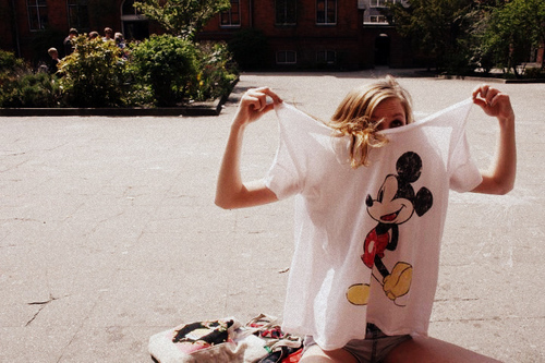 blonde, clothing, cuteness, fashion, t-shirt