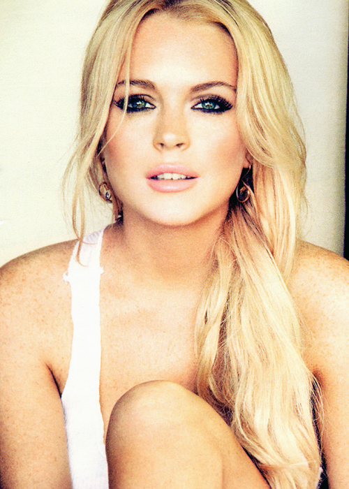 blonde, cute, fake lips, lindsay, lindsay lohan