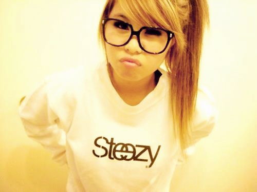 blonde, cute, girl, glasses, hair