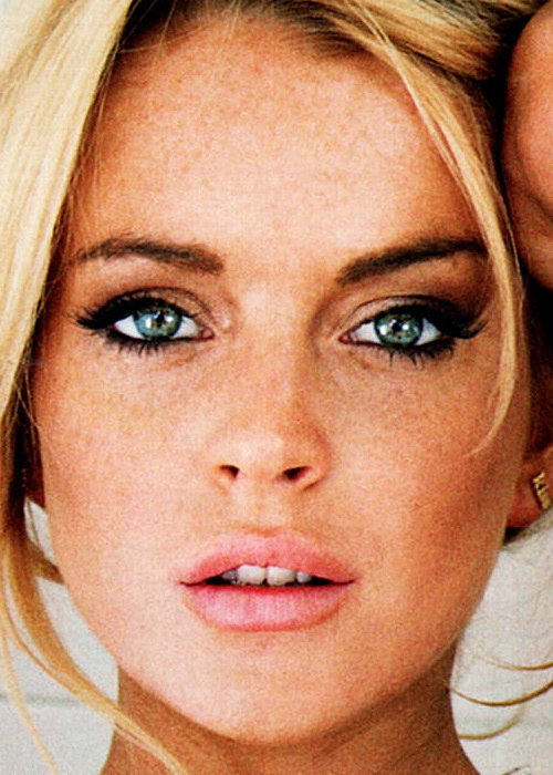blonde, eyes, girl, lindsey lohan, photography