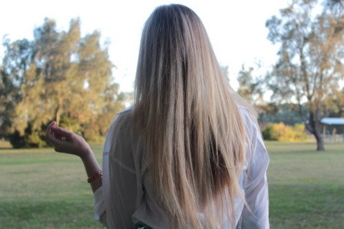 blonde, fashion, hair, outdoors, park