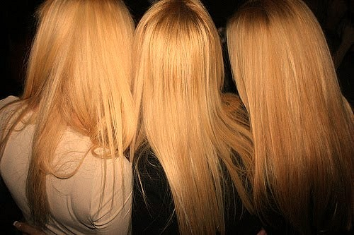 blondes, girls, hair, para miniti