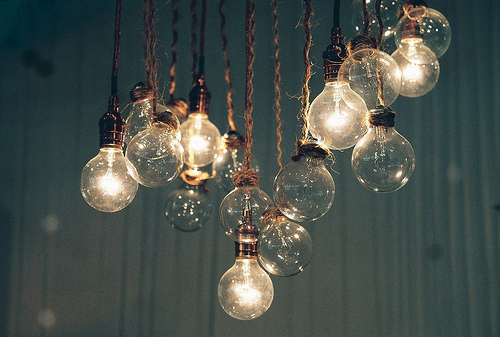 blue, bulb, lamp, light, light bulb, lights, vintage