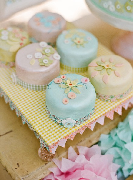 blue, cakes, cute, dessert, mini, pastel, pink