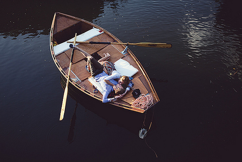 boat, couple, cute, kiss, lake, love, romance, romantic, water