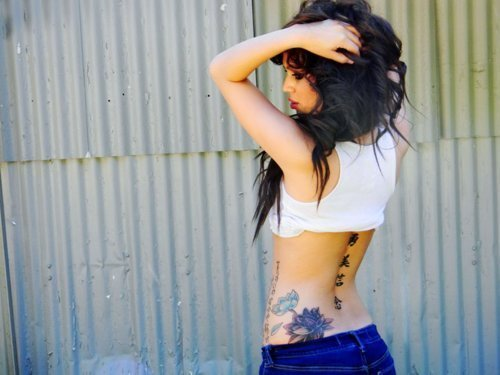 body, brunette, girl, pretty, tattoos