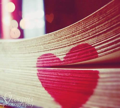 bokeh, book, cute, heart, love